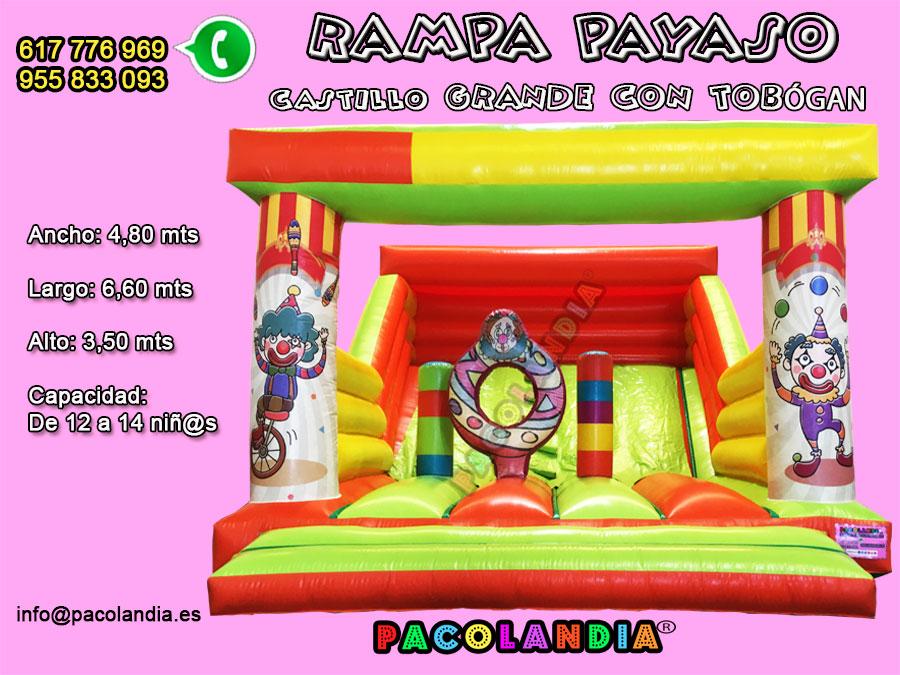 15-  RAMPA PAYASO Castillo Grande (Tobogán)