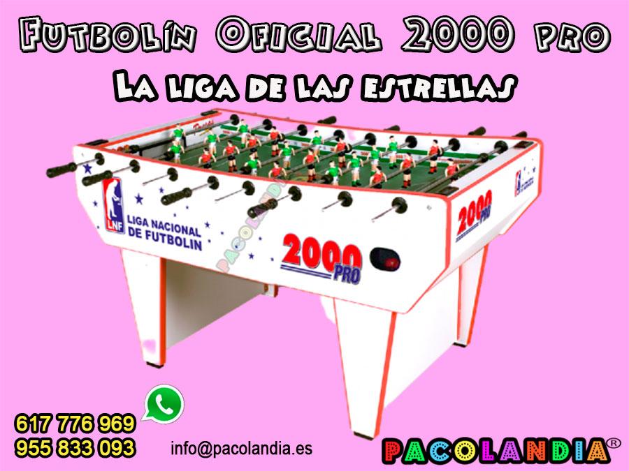 41-Futbolín Oficial 2000 pro