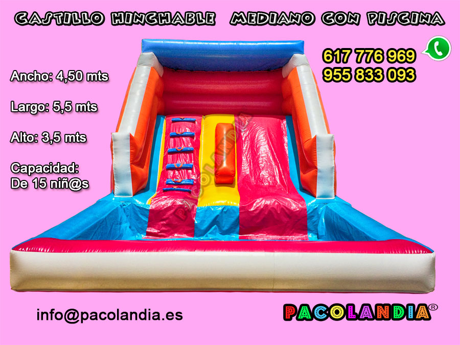 23-Castillo Hinchable con Piscina.
