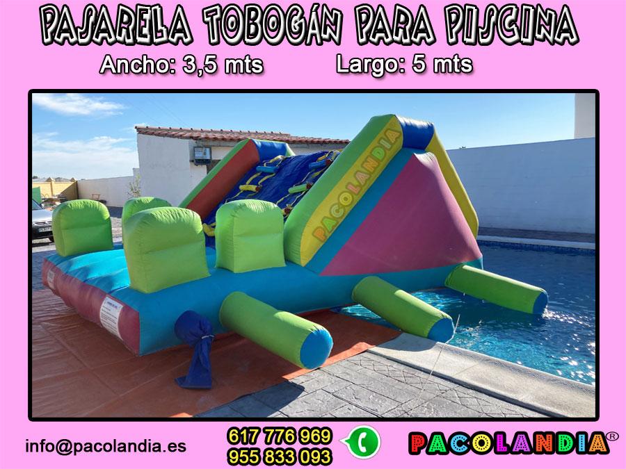 33-Pasarela tobogán para piscina.