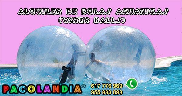 Alquiler de Bolas Hinchables acuáticas en Sevillla.