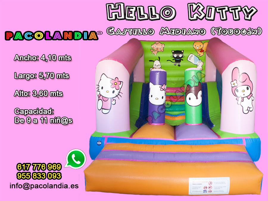 5-Hello Kitty-Castillo Mediano (Tobogán)