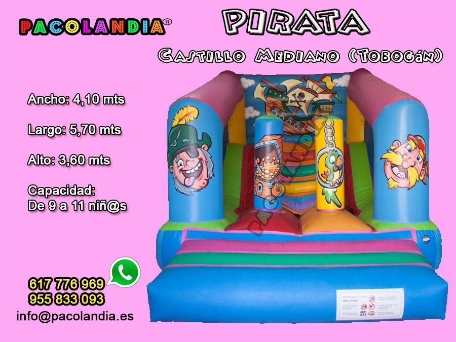 6-Pirata-Castillo Mediano (Tobogán)