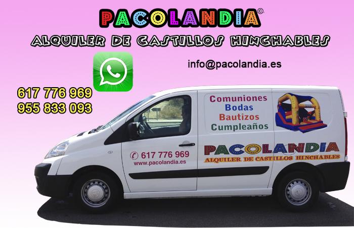 PACOLANDIA-ALQUILER CASTILLOS HINCHABLES